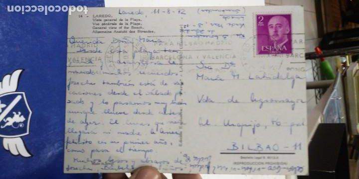 Postales: Postal Laredo vista general de la playa 1972 escrita y sellada N 14 Zperla - Foto 2 - 193846373