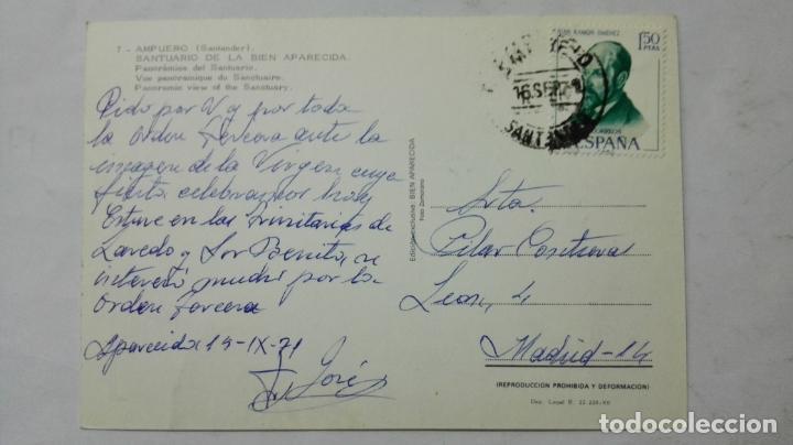 Postales: POSTAL AMPUERO-SANTANDER - SANTUARIO DE LA BIEN APARECIDA - Foto 2 - 194006298