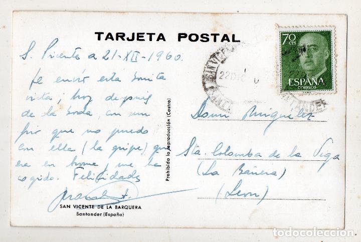 Postales: San Vicente de la Barquera. Santander. Franqueada. - Foto 2 - 194061976