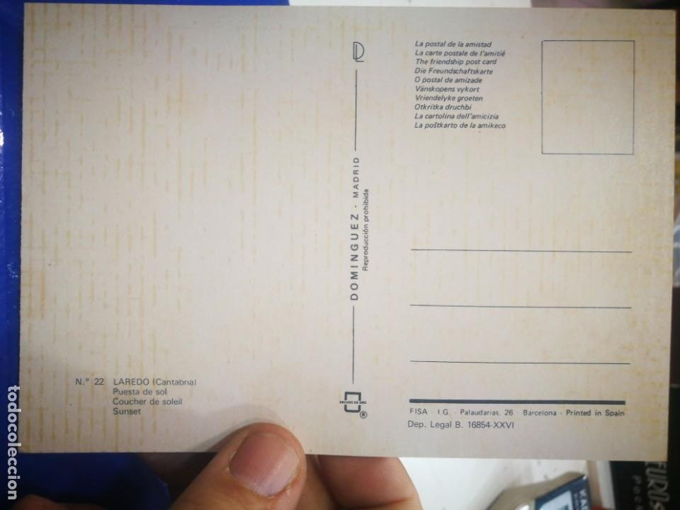 Postales: Postal Laredo Cantabria Puesta de sol N 22 DOMÍNGUEZ - Foto 2 - 194157786