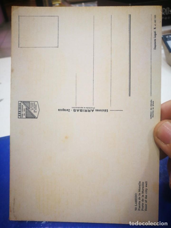 Postales: Postal Laredo Puerta de la Muralla N 50 ARRIBAS esquinas pelín tocadas - Foto 2 - 194157986