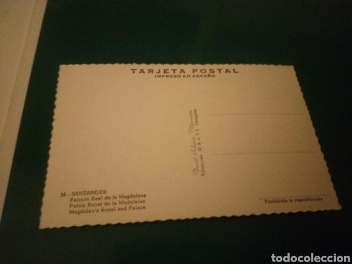 Postales: Antigua postal de Santander. Palacio de la Magdalena. Años 60. Ediciones Darvi de Zaragoza - Foto 2 - 194220456