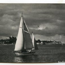 Postales: SANTANDER. DETALLE DE LA BAHÍA EN DÍA DE REGATAS. Nº 5. FOTO SAMOT. Lote 194262706