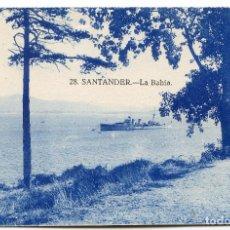 Postales: SANTANDER. LA BAHÍA. CON BUQUE DE GUERRA FONDEADO. . Lote 194263797