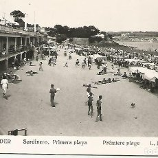 Postales: SANTANDER.SARDINERO.PRIMERA PLAYA,FOTÓGRAFO L. ROISIN. Lote 194550355