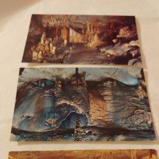 Postales: 3 POSTALES DE LAS CUEVAS DE PUENTE VIESGO Y ALTAMIRA. Lote 194645487