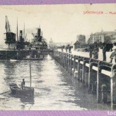 Postales: ANTIGUA POSTAL DE SANTANDER - MUELLE DE MAURA. FOTOTIPIA CASTIÑEIRA Y ÁLVAREZ SIN CIRCULAR MUY BIEN. Lote 194648035