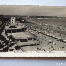Postales: POSTAL -- SANTANDER - SARDINERO. PRIMERA PLAYA Y AL FONDO CABO MAYOR -- ESCRITA --. Lote 194862813