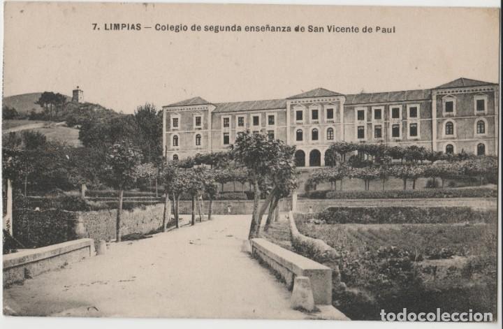 LOTE V-POSTAL LIMPIAS COLEGIO SAN VICENTE DE PAUL SANTANDER CANTABRIA SELLO (Postales - España - Cantabria Antigua (hasta 1.939))
