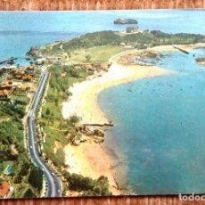 Postales: SANTANDER - PENINSULA Y PLAYA DE LA MAGDALENA. Lote 195077382
