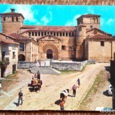 Postales: SANTILLANA - PORTADA DE LA COLEGIATA. Lote 195077443