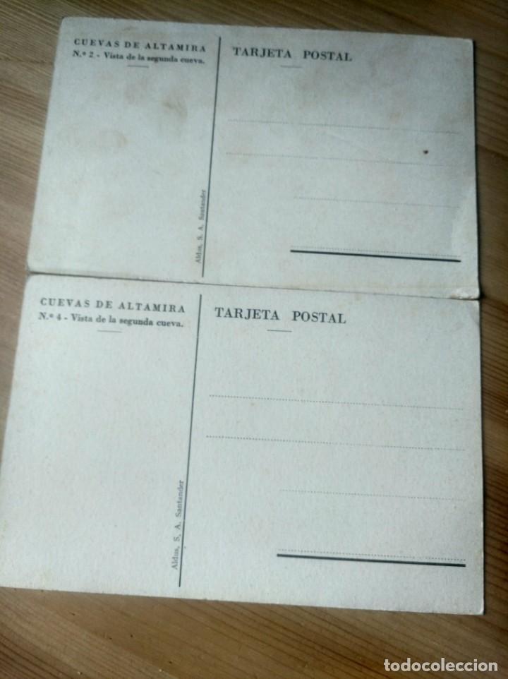 Postales: Lote 2 postales. Vista segunda cueva de Altamira. 2 y 4. Aldus Santander - Foto 2 - 195200912