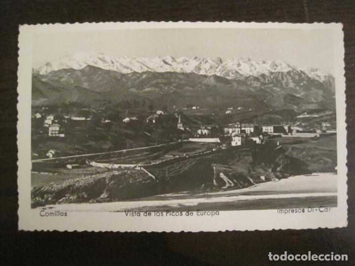 COMILLAS-VISTA DE LOS PICOS DE EUROPA-IMP· DI CAR-POSTAL ANTIGUA-(68.140) (Postales - España - Cantabria Antigua (hasta 1.939))