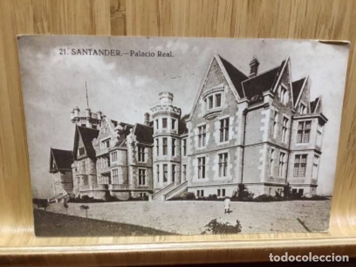 POSTAL DE SANTANDER.PALACIO REAL.21.AÑOS 20. (Postales - España - Cantabria Antigua (hasta 1.939))