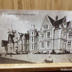 Postales: POSTAL DE SANTANDER.PALACIO REAL.21.AÑOS 20.. Lote 195243990