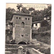 Postales: TARJETA POSTAL ALCEDA. MOLINO DE LA FLOR. LIBRERIA DE M. ALBIRA, SANTANDER. AÑO 1919. Lote 195280347