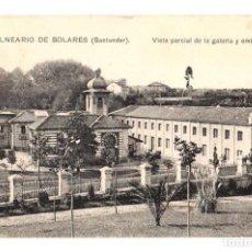 Postales: TARJETA POSTAL BALNEARIO DE SOLARES. SANTANDER. VISTA PARCIAL DE LA GALERIA Y EMBOTELLADO. Nº 4.. Lote 195280641