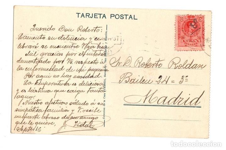 Postales: TARJETA POSTAL SANTANDER. ESTACION DEL NORTE. AÑO 1916 - Foto 2 - 195280986