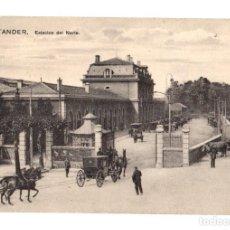 Postales: TARJETA POSTAL SANTANDER. ESTACION DEL NORTE. AÑO 1916. Lote 195280986