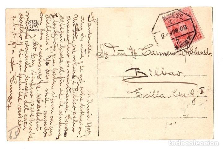 Postales: TARJETA POSTAL SANTANDER. DESCARGANDO BACALAO. LIBRERIA GENERAL. AÑO 1908 - Foto 2 - 195282746
