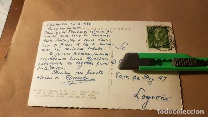 Postales: Postal. El Sardinero. Santander. Cantabria. Años 60 - Foto 2 - 195315501