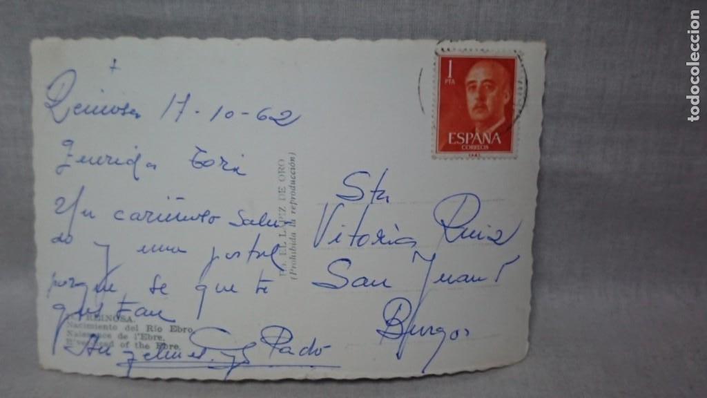Postales: ANTIGUA POSTAL NACIMIENTO DEL RÍO EBRO DE REINOSA - CANTABRIA AÑOS 60 - Foto 2 - 195494151