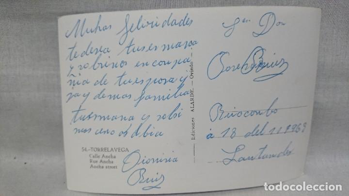 Postales: ANTIGUA POSTAL CALLE ANCHA TORRELAVEGA - CANTABRIA AÑOS 60 - Foto 2 - 195494635