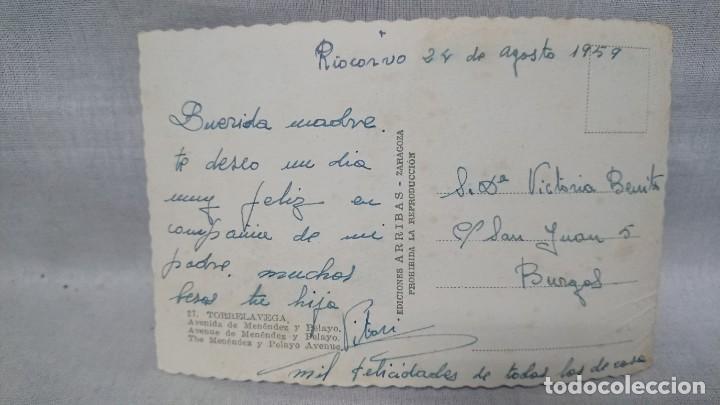 Postales: ANTIGUA POSTAL AVENIDA DE MENENDEZ Y PELAYO TORRELAVEGA - CANTABRIA AÑO 59 - Foto 2 - 195495201