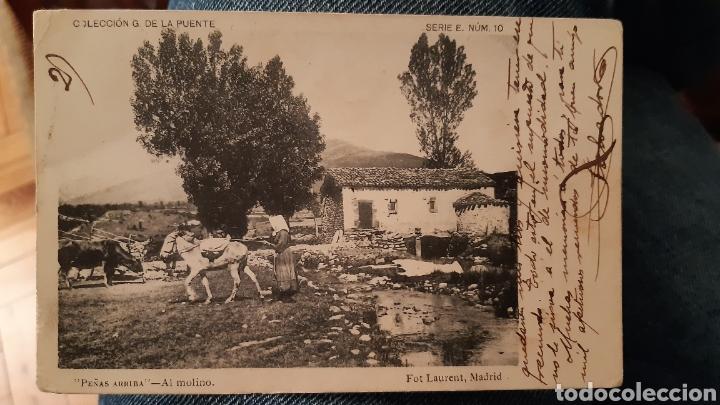 FOT LAURENT PEÑAS ARRIBA AL MOLINO COLECCIÓN G. DE LA PUENTE ENVIADA A CASTRO URDIALES (Postales - España - Cantabria Antigua (hasta 1.939))