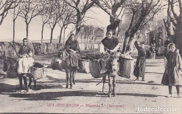 ALAMEDA 2ª (BURRERAS) (Postales - España - Cantabria Antigua (hasta 1.939))