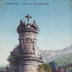 Postales: LIERGANES.LA CRUZ DE RUBALCABA. Lote 196359117