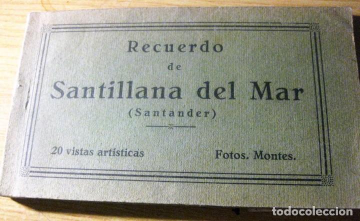 BLOC 14 POSTALES POSTAL RECUERDO DE SANTILLANA DE MAR SANTANDER . FOTOS MONTES (Postales - España - Cantabria Antigua (hasta 1.939))