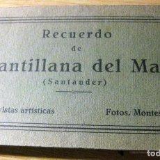 Postales: BLOC 14 POSTALES POSTAL RECUERDO DE SANTILLANA DE MAR SANTANDER . FOTOS MONTES. Lote 196809403