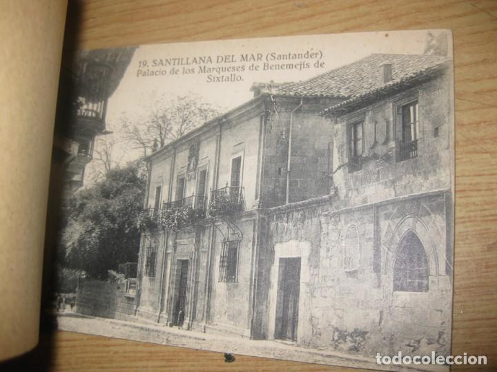 Postales: bloc 14 postales postal recuerdo de santillana de mar santander . fotos montes - Foto 2 - 196809403