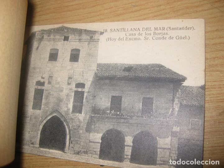 Postales: bloc 14 postales postal recuerdo de santillana de mar santander . fotos montes - Foto 3 - 196809403