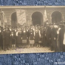 Cartes Postales: POSTAL FOTOGRÁFICA LLEGADA A CÁDIZ DE LOS COROS MONTAÑESES. EL SABOR DE LA TIERRUCA. CARNAVAL 1925.. Lote 197161188