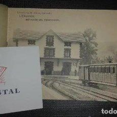 Postales: LIÉRGANES BLOCK 20 TARJETAS POSTALES. LIBRERIA DE M. ALBIRA. SANTANDER. ESTACION FERROCARRIL ETC.. Lote 197162357