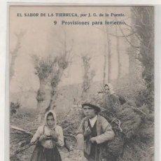 Postales: EL SABOR DE LA TIERRUCA POR J. G. DE LA PUENTE. 9 PROVISIONES PARA EL INVIERNO. SANTANDER. . Lote 197163811
