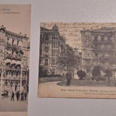 Postales: LOTE DE 2 POSTALES GRAN HOTEL FRANCISCA GOMEZ SANTANDER. Lote 197472161