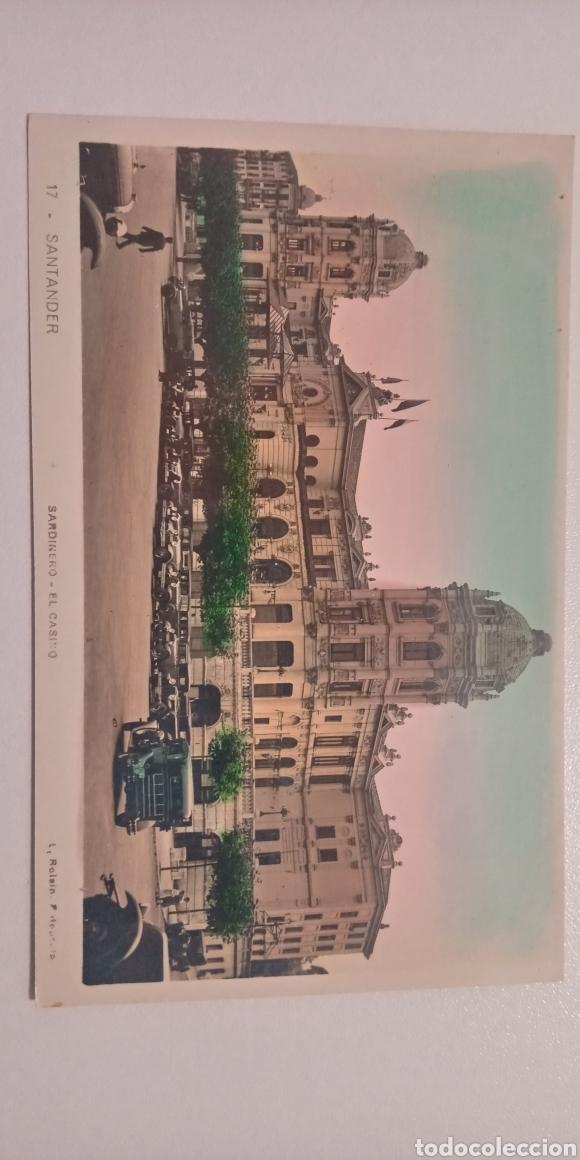 Postales: Lote de 2 postales Santander coloreadas El Casino Roisin años 30 - Foto 2 - 197580664