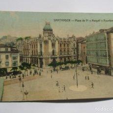 Postales: POSTAL DE SANTANDER. PLAZA DE PI Y MARGALL Y AYUNTAMIENTO. Lote 197829647