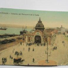 Postales: POSTAL DE SANTANDER. ESTACIÓN DEL FERROCARRIL DE LA COSTA. Lote 197829987