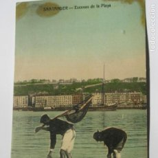 Postales: POSTAL DE SANTANDER. ESCENAS DE LA PLAYA. Lote 197831141