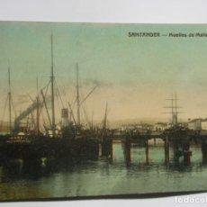 Postales: POSTAL DE SANTANDER. MUELLE DE MALIAÑO. Lote 197831700