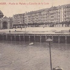 Cartes Postales: SANTANDER MUELLE MALIAÑO Y ESTACION DE LA COSTA ED. CASTAÑEIRA ALVAREZ Y LEVENFELD. Lote 198730191
