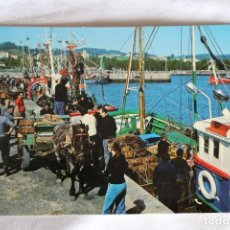Postales: COLINDRES (ERROR COLNIDRES) DESCARGANDO LA ANCHOA FOTO AUFER S/C BARCOS PESQUEROS. Lote 198882738