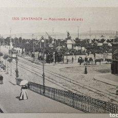 Cartes Postales: TARJETA POSTAL SANTANDER - MONUMENTO A VELARDE - CANTABRIA - VISITACIÓN POBLADOR. Lote 199090115