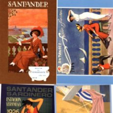 Postales: 8 POSTALES ANUNCIO DEL VERANEO EN SANTANDER.. Lote 199171798