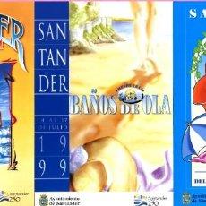 Postales: 3 POSTALAS - SIN USO - SANTANDER - POSTAL DEL CARTEL - BAÑOS DE OLA . Lote 199403427