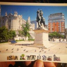 Postales: POSTAL SANTANDER AYUNTAMIENTO Y MONUMENTO A FRANCISCO FRANCO EDICIONES A.M. S/C. Lote 199435406